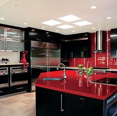 Renovate your kitchen red