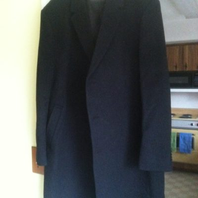 MAN'S NEW CHARCOAL-BLACK CASHMERE DRESS OVERCOAT